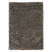 Husain International Plain Silver/Grey Woven Rug - 180cm x 120cm (5 ft 11 in x 3 ft 11 in)