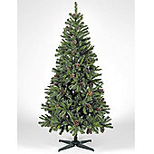 7ft 4in Snow King Fir Christmas Tree with Natural Pine Cones