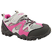 Mountain Peak Girls Outback Grey and Pink Walking Trainers - Grey