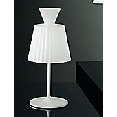 Leucos Katerina Lucido Structure White Frame Caldo Table Lamp - Small - Glossy White
