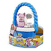 Little Live Pets Sweet Talkin' Puppy In Basket - Sweatpea Pink