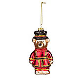 Glass Beefeater Teddy Bauble-Christmas Tree Decoration