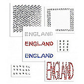 England Glitter Stickers Triple Pack
