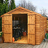 Mercia Garden Products Overlap Apex Shed with Double Door - 213 cm H x 253 cm W x 315 cm D
