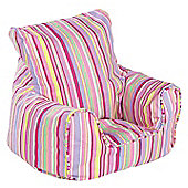 Just 4 Kidz Kids 44cm Practical Bean Chair - Candy Stripe