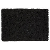 Tesco Soft Shaggy Rug Black 100x150cm