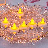 Set of 6 Floating Flickering LED Battery Tea Lights