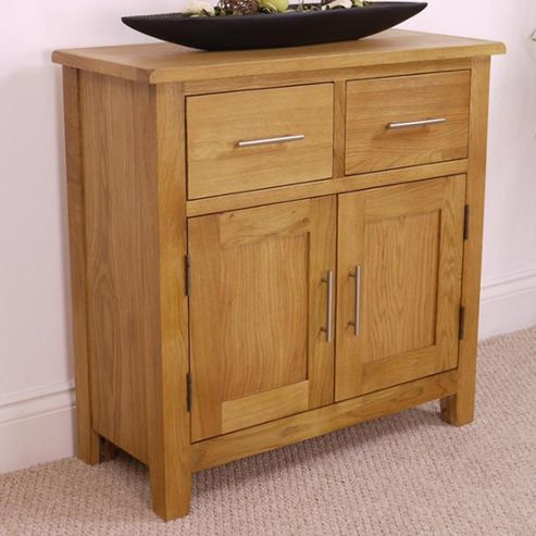 buy nebraska modern oak sideboard mini oak 2 door 2 drawer sideboard from our sideboards range. Black Bedroom Furniture Sets. Home Design Ideas