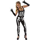 Skeleton Jumpsuit (Black) Medium