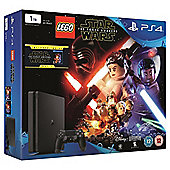 PS4 Slim 1TB LEGO Star Wars and The Force Awakens (Blu-ray) Console Bundle Black (D Chassis)
