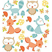 Forest Friends Stickers - Orange