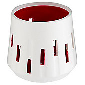 Tesco Ceramic Cut Out Tealight, Red