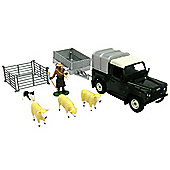 Britains 1:32 Land Rover Sheep Trailer and Sheep