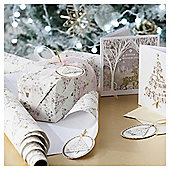 Bunting Tree Luxury Christmas Wrapping Paper, 3m