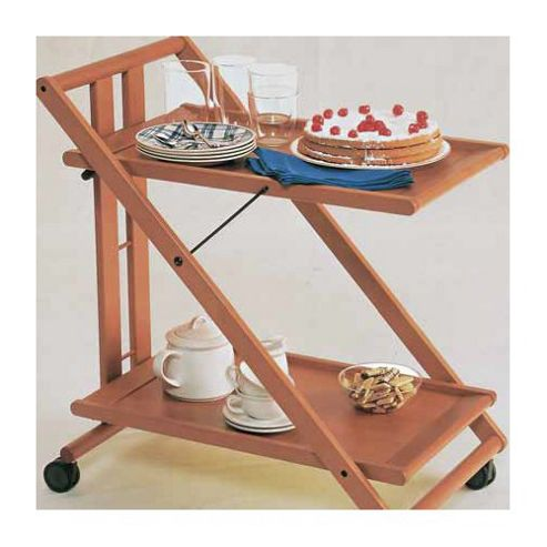Foppapedretti Casa Sprint Folding Serving Trolley in Natural