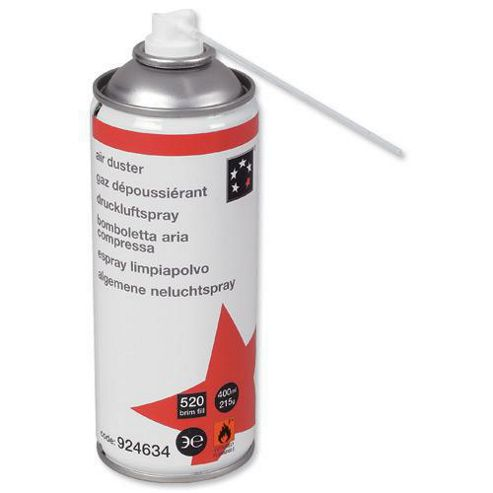5 Star Air Duster Can HFC Free Compressed Gas Flammable 400ml