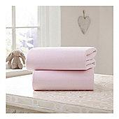 Clair de Lune Flat Sheets Pink Crib/Pram sheets