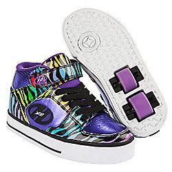 Heelys Purple and Black Multiprint X2 Cruz Skate Shoes - Size 2