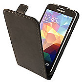 Tortoise™Genuine Leather Flip Case, Samsung Galaxy S5. Black.
