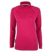 Hiker Womens Long Sleeve Baselayer Zip Top - Pink