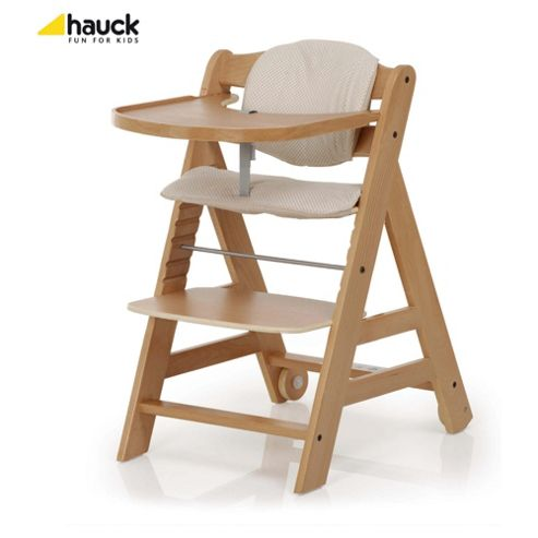 Hauck Beta Highchair, Natural Wood