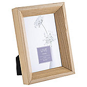 Tesco Solid Oak Photo Frame 4 x 6""