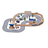 EverEarth 50 pcs Eco City Train Set 36m+