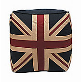 Woven Magic Union Jack Patriotic Duck Pouffe
