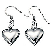 Elements Silver Puffed Heart Earrings