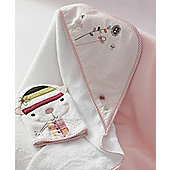 Mamas & Papas - Scrapbook Girl - Hooded Towel and Mitt