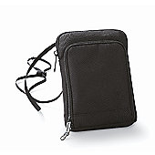 Bagbase Polyester Travel Wallet Smartphone Compatible Black