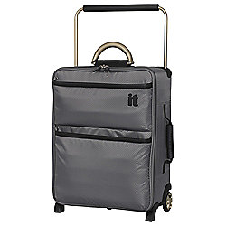 IT Luggage World's Lightest 2-Wheel Small Charcoal Suitcase