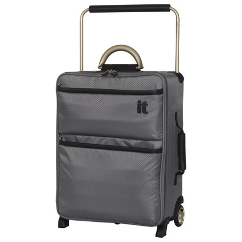 Buy IT Luggage World's Lightest 2-Wheel Small Charcoal Suitcase ...