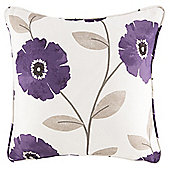 Poppy Filled Cushion 43 x 43cm, Plum
