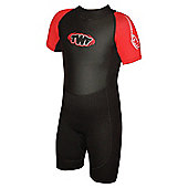 Childs Shortie 2.5mm Black/Red Age 11/12