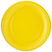 TESCO BRIGHT YELLOW PAPER PLATE 24CM 8 PACK