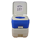 Palm Springs 20L Litre Portable Toilet Potty Loo With Flush For Camping Caravan