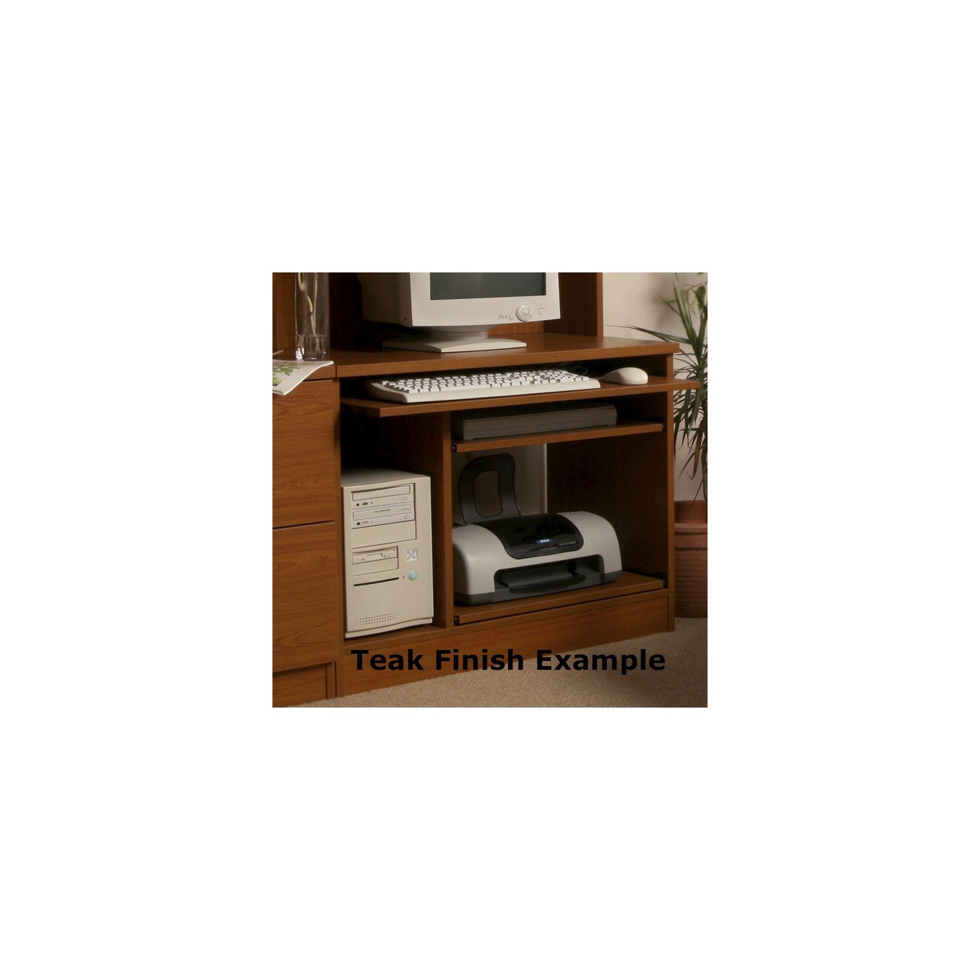 Enduro Home Office Desk / Workstation - Walnut at Tesco Direct