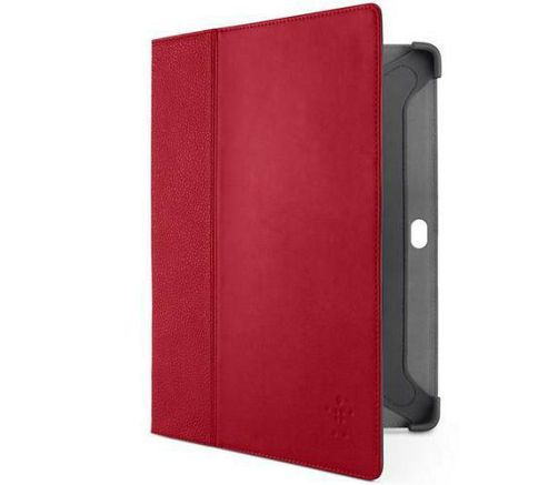 Belkin Components Cinema Leather Folio Case with Stand for Samsung Galaxy Tab 2 10.1 inch (Red)