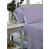 Catherine Lansfield Caramel Flat Sheet - - Lilac