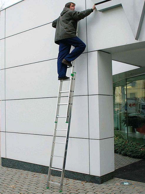 DIY 2.58m (8.46ft) Triple Extension Ladder