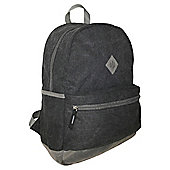 Tesco Black Canvas Rucksack