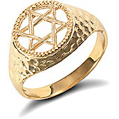 9ct Solid Gold Star of David Ring