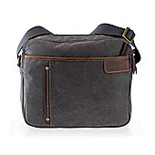 TRP0320 Troop London Classic Canvas Across Body Bag Black
