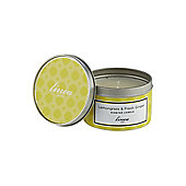 Linea Lemongrass & Ginger Tin Candle )