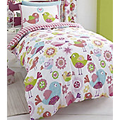 Tweet Tweet Single Bedding in 100% Brushed Cotton