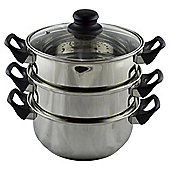 Tesco Basics Stainless Steel 20cm Steamer