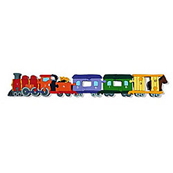 Handmade in Ireland Traditional Wooden Puzzle: Number Train