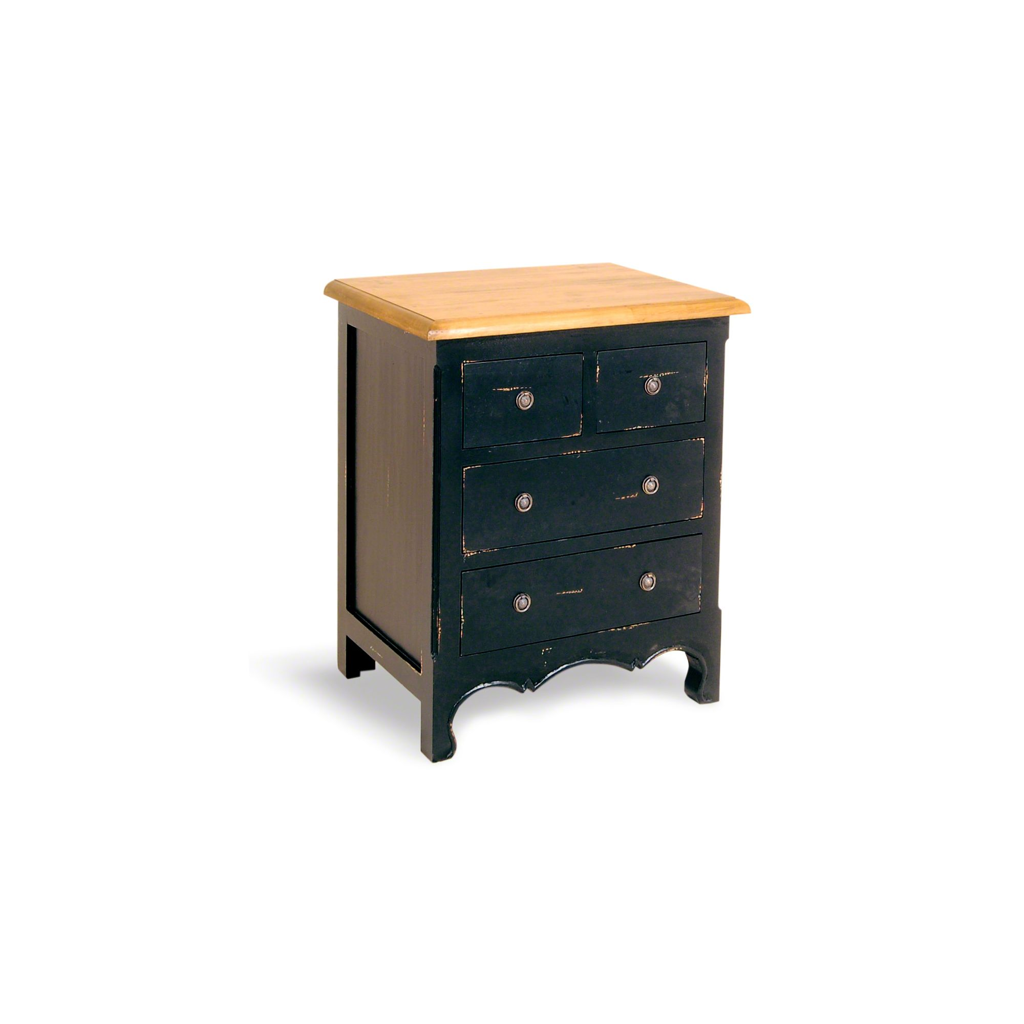 Oceans Apart Painted Provence Four Drawer Chest in Antique Black at Tescos Direct