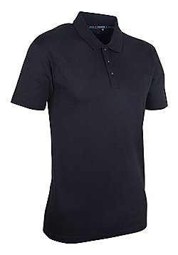 Mountain Warehouse Quest Mens Technical Polo Shirt - Black